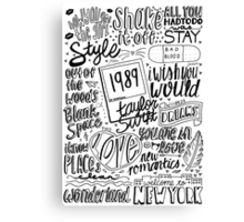 taylor swift collage Canvas Print