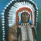Chief in War Bonnet by Woodie