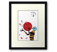 Cover your mouth Framed Print