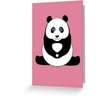PANDA PAWS HEART Greeting Card