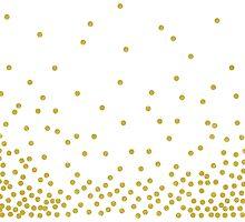 Gold polka dot by cafelab