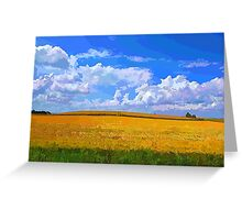 Wheat field in vivid colors Greeting Card