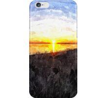 Beautiful sunset above the sea iPhone Case/Skin