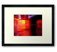 Flashing Reds Framed Print