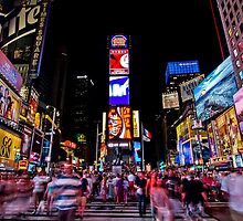 Times Square at Night by Mike Garner