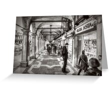 People under the arcades Greeting Card