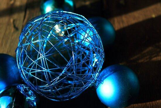 Shiny Blue Ball by Carol James
