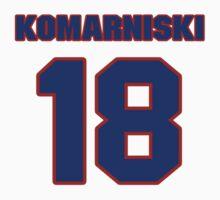 National Hockey player Zenith Komarniski jersey 18 by imsport