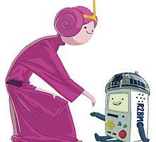 Princess Bubblegum & BMO - Star Wars by MonHood