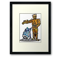 R2-Dalek2 & Cyber3PO Framed Print