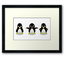 Mad penguins Framed Print