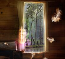 Gathering Feathers - Image and Short Story by CarolM