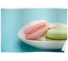 French Macaron Cookies Poster