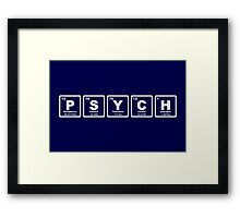 Psych - Periodic Table Framed Print