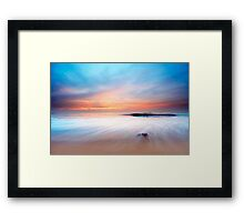 beautiful sunset on the beach Framed Print