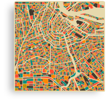 AMSTERDAM MAP Canvas Print