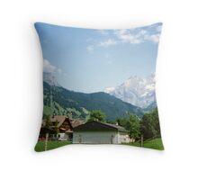 Kandersteg Mountains Throw Pillow
