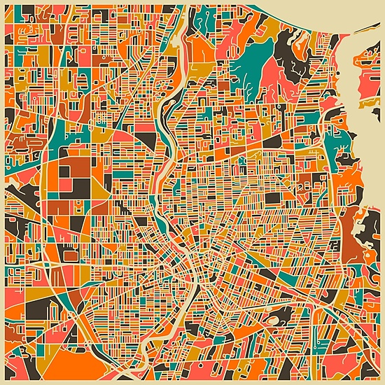 Rochester, New York Map by JazzberryBlue