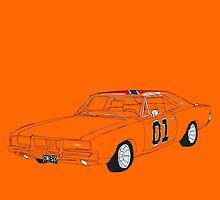 General Lee - The Dukes of Hazzard by Martin Lucas