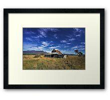 Western Creek Barn Framed Print
