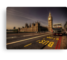 Westminster Bus Stop  Canvas Print