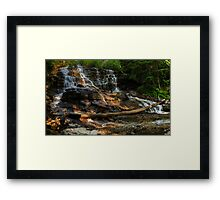 Sunrise on Moses falls Framed Print