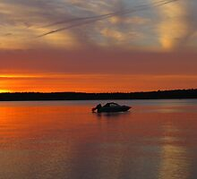 Sunset on Traverse Bay by Kathy Russell
