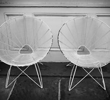 Two White Chairs - New Orleans, LA by Daniel  Rarela