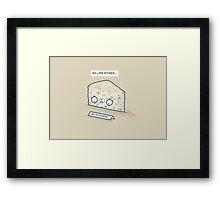 Blue cheese Framed Print
