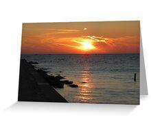 Summer Sunset on Lake Michigan Greeting Card