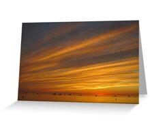 Summer Sunset at Pentwater Beach Greeting Card