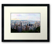 HK Panorama at Sunset V - Hong Kong. Framed Print