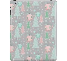Christmas grey pattern iPad Case/Skin