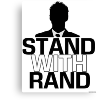 Stand with Rand Vector Canvas Print