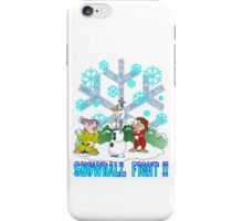 Snowball Fight Disney style iPhone Case/Skin