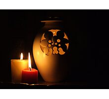 Candlelight Reflections Photographic Print