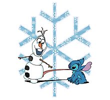Olaf & Stitch Photographic Print