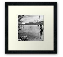 Loch Rannoch and Schiehallion, black and white Framed Print