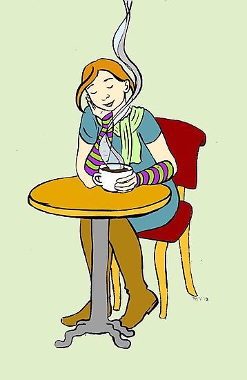 Cafe by Tatiana  Gill