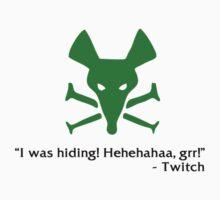 """I was hiding! Hehehahaa, grr!"" Twitch by M3llawi94"
