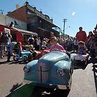 kids vintage pedal car race at York Festival of Motoring, York, Western Australia by nick page