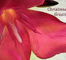 """Oleander """"Christmas Greetings"""" ~ Greeting Card by Susan Werby"""