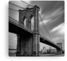 Brooklyn Bridge Over Time Canvas Print