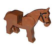 Toy Brick Horse Photographic Print