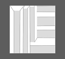 GREY ABSTRACT BLOCK art by ackelly4