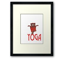 Yoga Bear in Tree pose Framed Print
