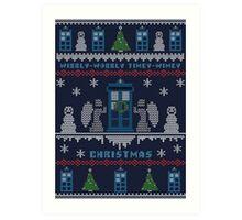 Wibbly Wobbly Timey Wimey Christmas Art Print