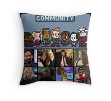 The Greendale Seven (and the Changlorious Bastard) Throw Pillow