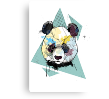 Geometric Watercolor Panda Bear Canvas Print