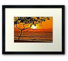 Palm Cove Sunrise Framed Print